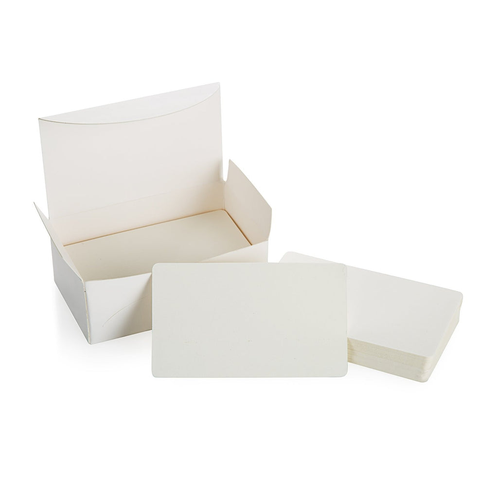 PPYY NEW -Blank White Cardboard paper Message Card Business Cards Word Card DIY Tag Gift Card About 100pcs (White)