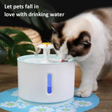 2.4L Automatic Pet Cat Water Fountain LED Electric USB Dog Pet Mute Drinker Feeder Bowl Pet Fountain Drinking Water Dispenser