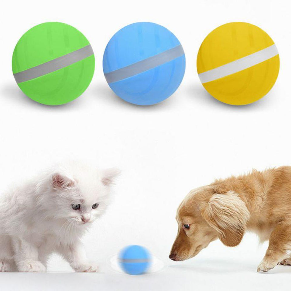 Waterproof Dog Toy Magic Roller Ball Jumping Chew Ball USB Electric Pet Ball LED Rolling Flash Ball Fun Toy For Cat Dog Kids