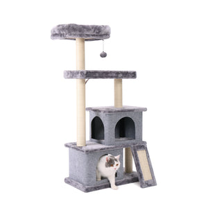 Pet Scratching Post Gray Cat's Tree Cat's Climbing Frame Universal Pet Playing Furniture Animals Toys House Bed Cat Gift