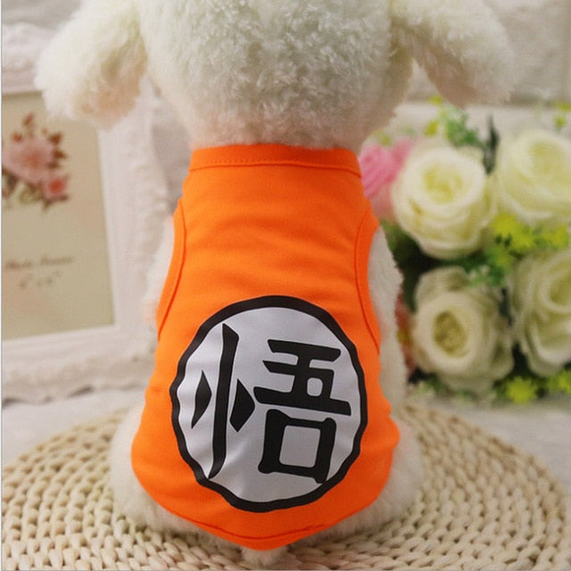 Cat T-shirt Soft Puppy Dogs Clothes Cute Pet Dog Clothes Cartoon  Pet Clothing Summer Shirt Casual Vests For Small Pets XS-XXL