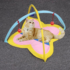 Cat bed In-Outdoor Pet Cat Funny Hammock Bed and Toy Kitten Cat Play Sleeping Furniture Tent Balls Cat Play House Kennels Bell