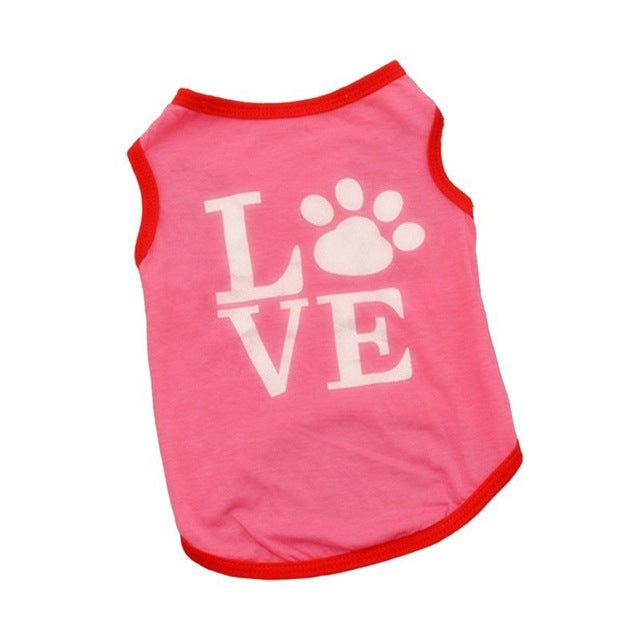 Pet Dog Clothes For Dog Cat Vest  T Shirts Pet Costume Cotton Clothes For Small Dogs Chihuahua Cool Puppy Clothing For Kitty 45