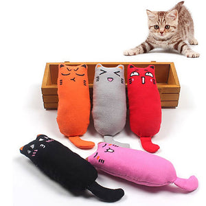 Cat Grinding Catnip Toys Funny Interactive Plush Cat Toy Pet Kitten Chewing Toy Claws Thumb Bite Cat mint For Cats Teeth toys
