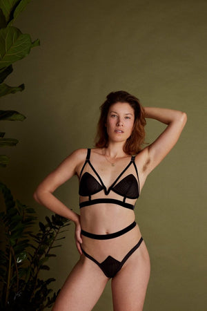 Break the glass ceiling - LONGLINE TRIANGLE BRA - Longline Triangle Bra - theunderargument.com