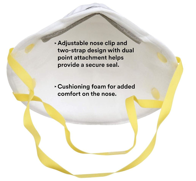 3M N95 NIOSH Particulate Respirator 8210, 20-Pack