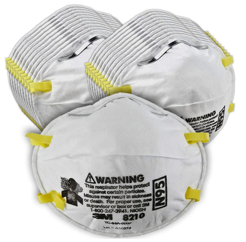3M N95 NIOSH Particulate Respirator 8210, 20-Pack (4.99/Mask)