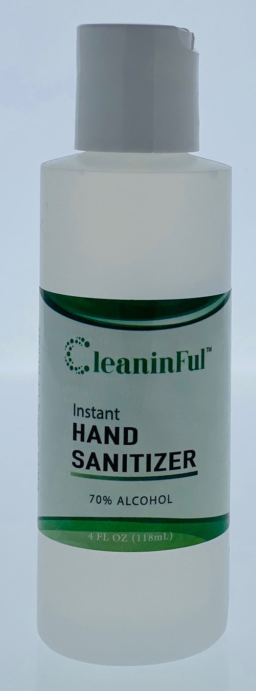 5-Pack of 4 oz Hand Sanitizer GEL, Ethyl Alcohol 70%