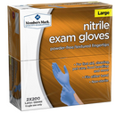 400 Nitrile Exam Blue Gloves, Member's Mark, Powder-Free, Latex Free, 4 Mil (2 Packs of 200)