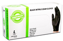 SupplyMaster Black Nitrile Exam Disposable Gloves - 4 Mil, Powder Free, Non-Sterile, Latex Free, Textured, Ambidextrous, Large,