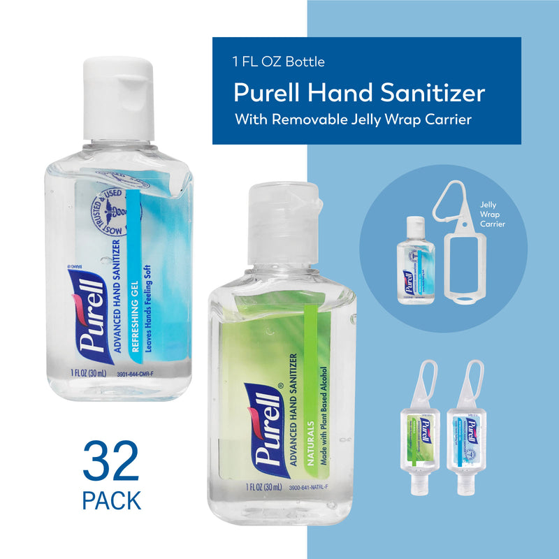 32-Pack PURELL Hand Sanitizer 1 oz Variety Pack, ($2.00bottle) Flip-cap bottle with Attachment Carrier