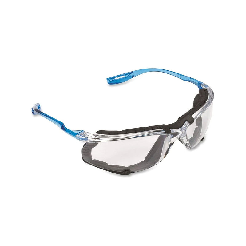 3M Safety Glasses, Removable Foam Gasket, Clear Anti-Fog Lenses
