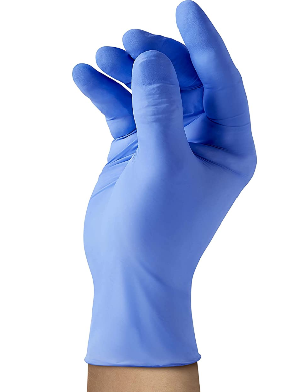 Medline SensiCare 200 Nitrile Exam Gloves, Disposable, Powder-Free, Blue, X-Large, Box of 180