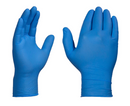 AMMEX X3 Industrial Blue Nitrile Gloves, Box of 100, 3 mil, Size Small, Latex Free, Powder Free, Textured, Disposable, Non-Sterile, X342100-BX