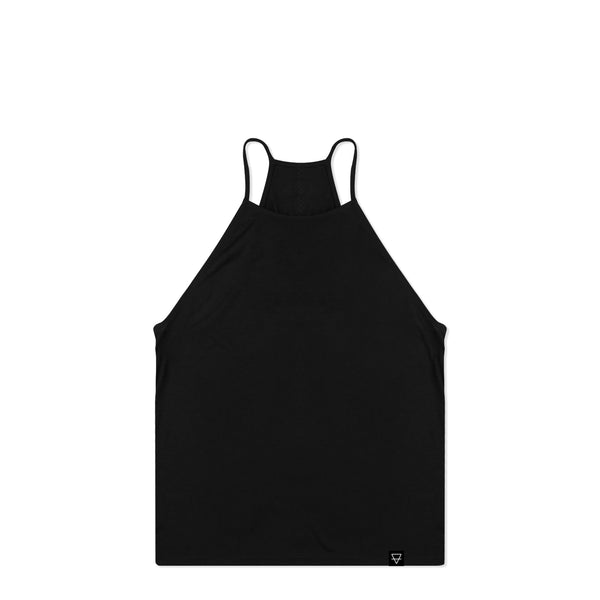 Core Black Women's High Neck Tank Top