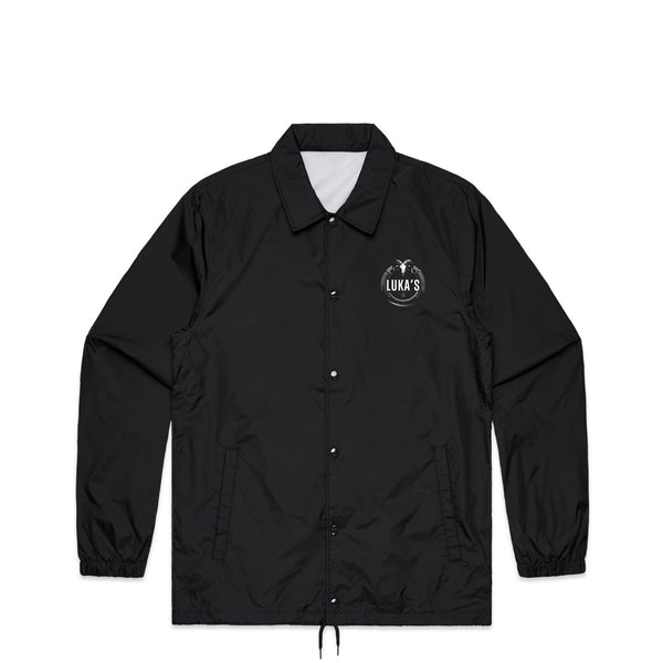 Ram Skull Black Coach Jacket