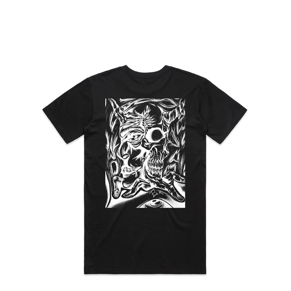 Abstract Evil Black T-Shirt