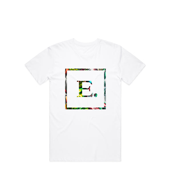 Abstract Logo White T-Shirt