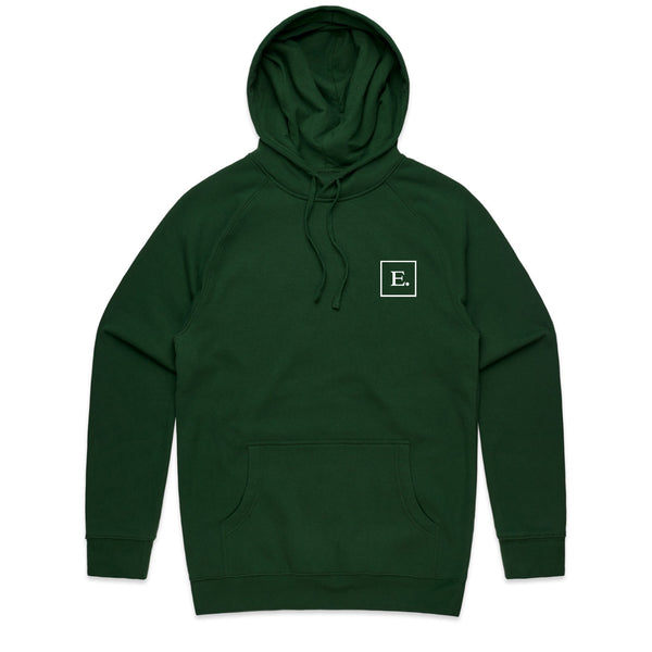 Abstract Evil Forest Green Hoodie