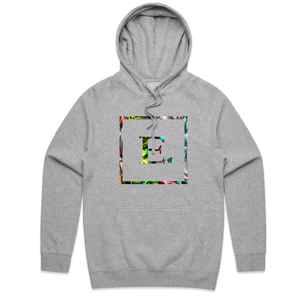 Abstract Logo Athletic Heather Hoodie