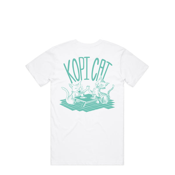 Kopi Cat White T-Shirt