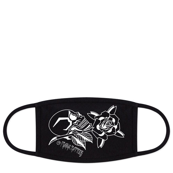 Marva Skull Black Face Mask