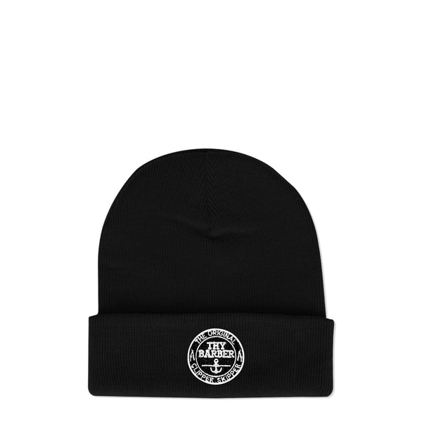 Nautical Black Beanie