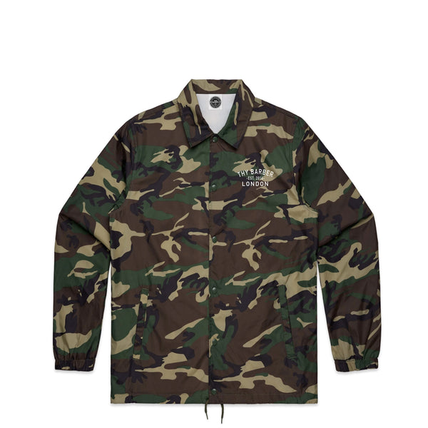 Lockup Camo Coach Jacket