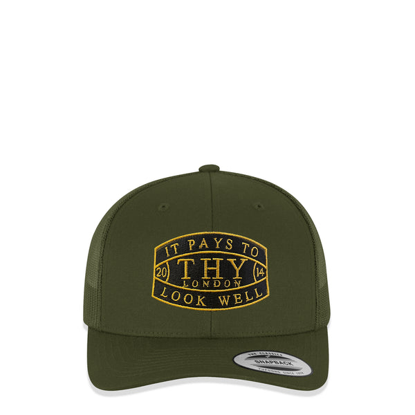 It Pays To Look Well Khaki Trucker Cap