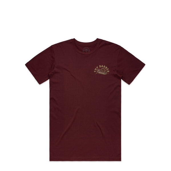 Slick Til Death Burgundy T-Shirt