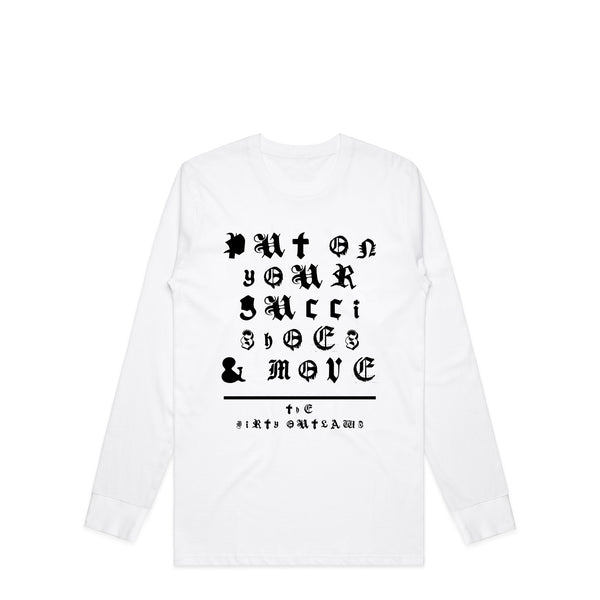 Shoes & Move White Longsleeve