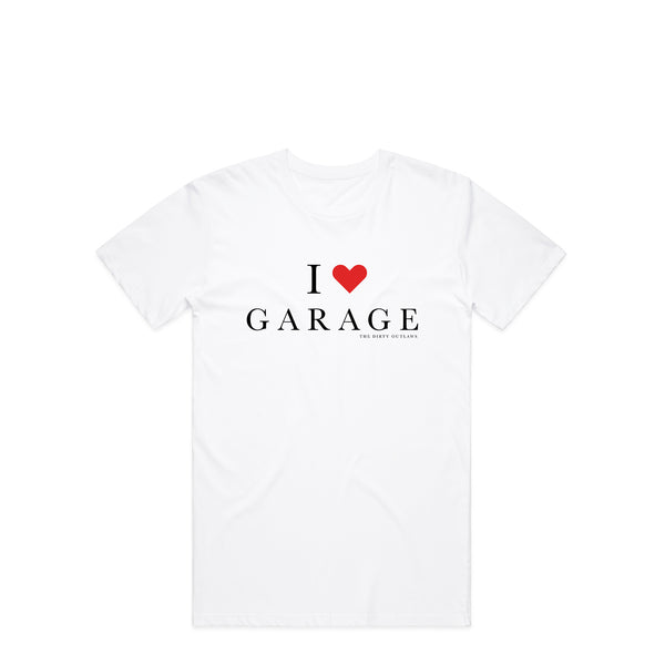 I Love Garage White T-Shirt