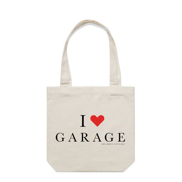 I Love Garage Natural Tote Bag