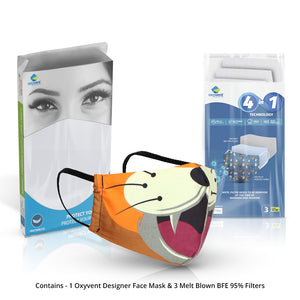 Happy Tiger Designer Face Mask