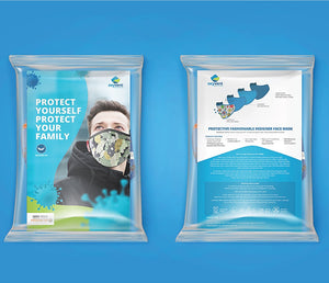 Keep Distance & Stay Safe Face Mask