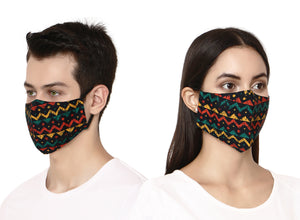 Multicolor Trails Designer Face Mask