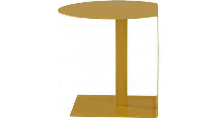 ODA PEDESTAL TABLE - MOUTARDE LACQUE - Floor Sample