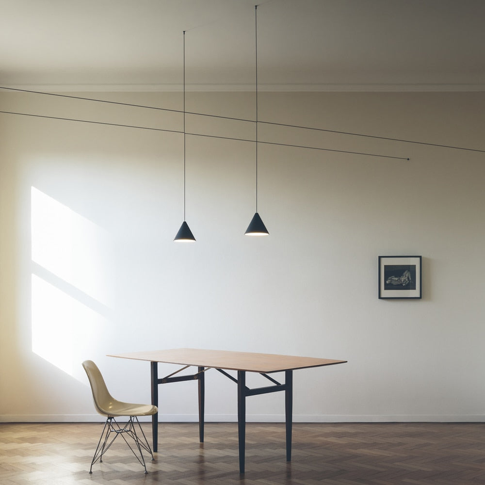 String Lights Cone Pendant Lights