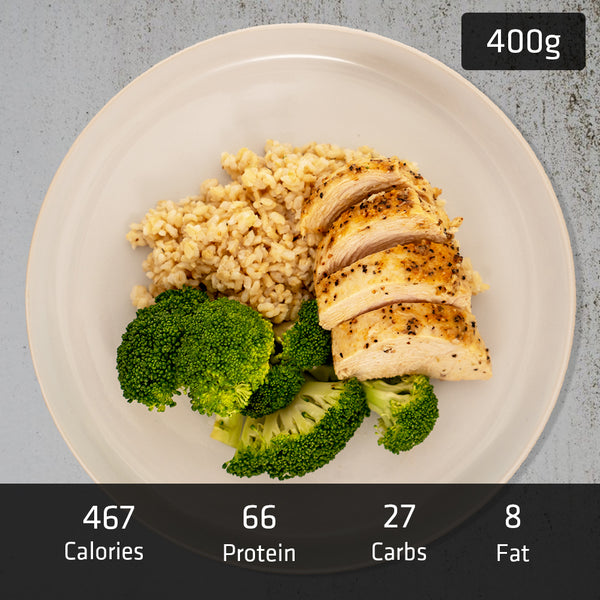 MUSCLE MEAL | 200g Chicken Breast with 200g Brown Rice & Vegetables