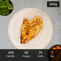 MUSCLE MEAL | 200g Chicken Breast with 200g Sweet Potato & Vegetables