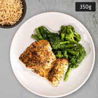 Lemon Pepper Barramundi with Brown Rice & Vegetables