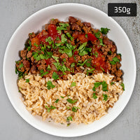 Beef Taco Bowl with Brown Rice