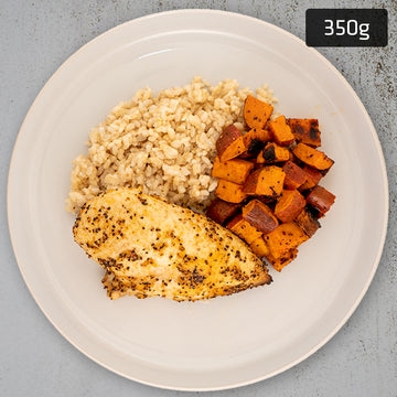 Lemon Pepper Chicken Breast with Sweet Potato & Brown Rice