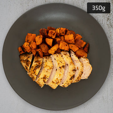 Lemon Pepper Chicken Breast with Roast Sweet Potato
