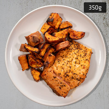 Salmon with Roast Sweet Potato