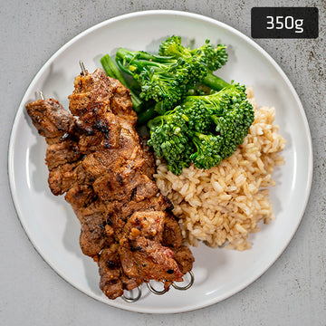 Souvlaki Lamb with Brown Rice & Vegetables