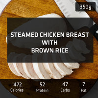 Steamed Chicken Breast with Brown Rice