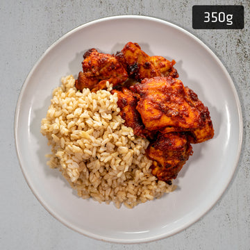 Tandoori Chicken with Brown Rice & Mint Yoghurt Sauce