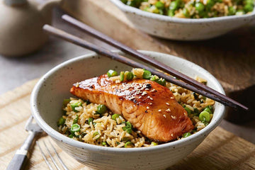 Teriyaki Salmon with Stir Fry Rice