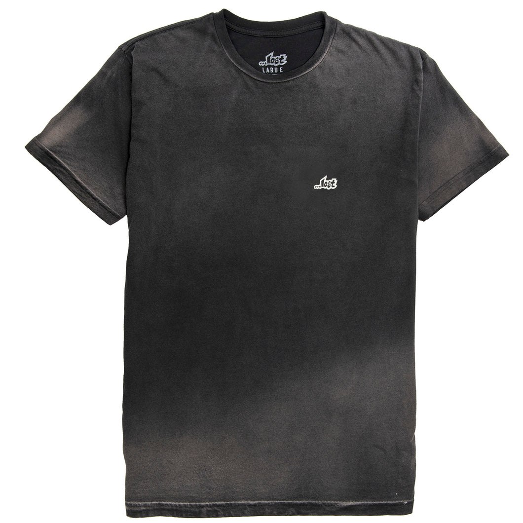 Lost Tee Black Bleach Wash